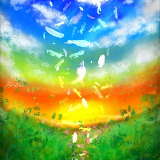 Feather Art - Obrázkek zdarma pro 1024x1024
