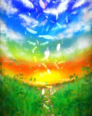 Feather Art - Obrázkek zdarma pro Nokia X7