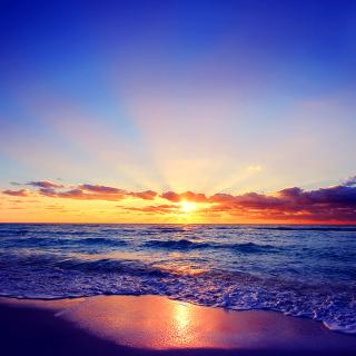 Romantic Sea Sunset - Obrázkek zdarma pro 2048x2048