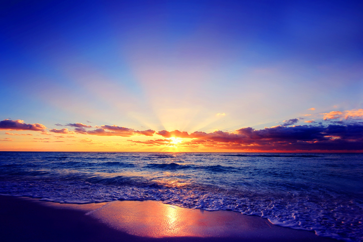 Romantic Sea Sunset wallpaper