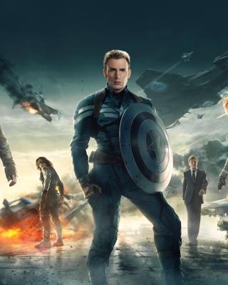 Captain America The Winter Soldier 2014 - Obrázkek zdarma pro 352x416