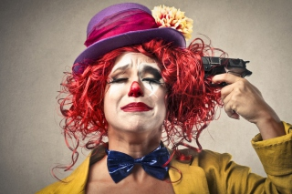 Sad Clown Background for Android, iPhone and iPad