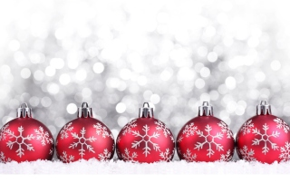 Snowflake Christmas Balls Wallpaper for Android, iPhone and iPad
