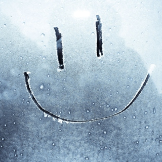Smiley Face On Frozen Window - Obrázkek zdarma pro iPad Air