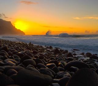 Kalalau Beach in Hawaii - Obrázkek zdarma pro iPad