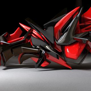 Black And Red 3d Design - Obrázkek zdarma pro iPad 2