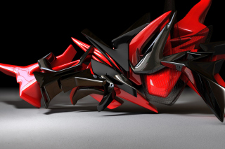Black And Red 3d Design Background for Android, iPhone and iPad