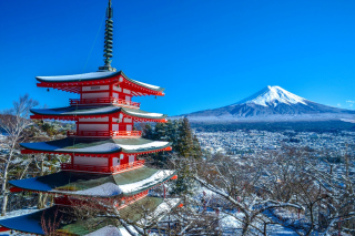 Fuji Mountain Background for Android, iPhone and iPad