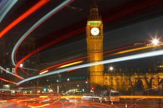 Night Big Ben Wallpaper for Android, iPhone and iPad