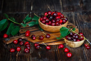 Red Sweet Cherries Background for Android, iPhone and iPad