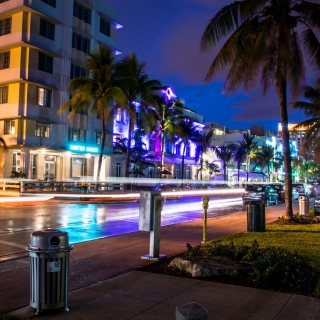 Florida, Miami Evening - Obrázkek zdarma pro 1024x1024