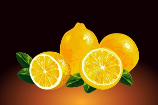 Free Fresh Lemon Painting Picture for Android, iPhone and iPad