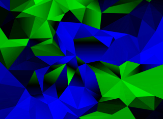 Blue And Green Galaxy S5 Background for Android, iPhone and iPad
