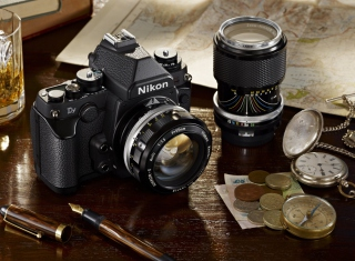 Free Nikon Camera And Lens Picture for Android, iPhone and iPad