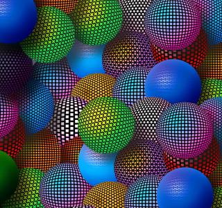 3D Neon Balls - Obrázkek zdarma pro iPad mini 2