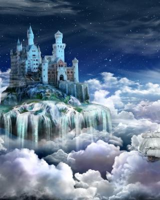 Castle on Clouds - Obrázkek zdarma pro iPhone 4