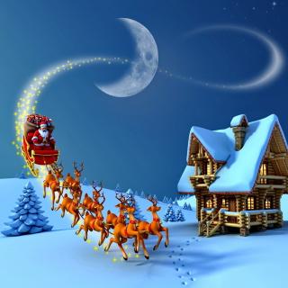 Christmas Night - Obrázkek zdarma pro 1024x1024