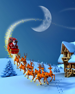Christmas Night - Obrázkek zdarma pro 240x320