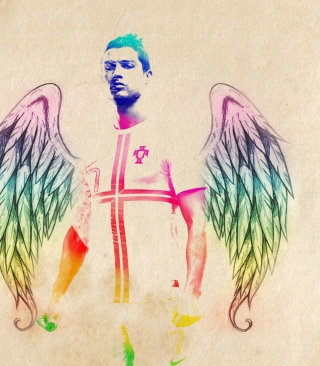 Cristiano Ronaldo Angel - Obrázkek zdarma pro Nokia Asha 305