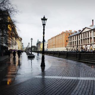 Nevsky Prospect in St  Petersburg - Obrázkek zdarma pro 128x128