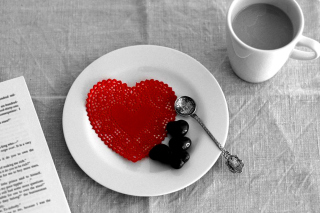 Valentine Breakfast Picture for Android, iPhone and iPad