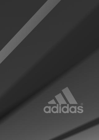 Adidas Grey Logo - Obrázkek zdarma pro 176x220