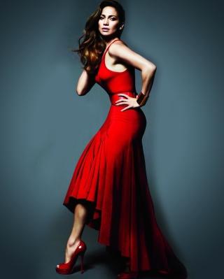 J Lo In Gorgeous Red Dress - Obrázkek zdarma pro iPhone 5S