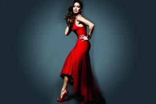 J Lo In Gorgeous Red Dress - Obrázkek zdarma pro Sony Xperia Z