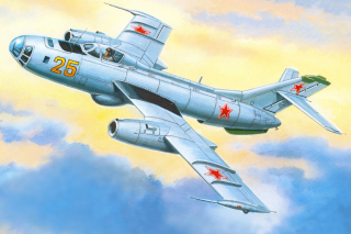 Yakovlev Yak 25 Soviet Union interceptor aircraft Background for Android, iPhone and iPad