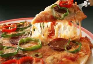 Slice of Pizza Background for Android, iPhone and iPad