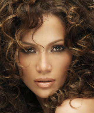 Jennifer Lopez With Curly Hair - Obrázkek zdarma pro iPhone 5S