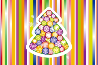 Colorful Christmas Tree Background for Android, iPhone and iPad