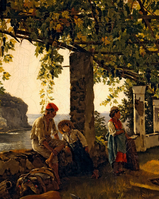 Sylvester Shchedrin, Terrace of the Seashore - Obrázkek zdarma pro Nokia C1-01