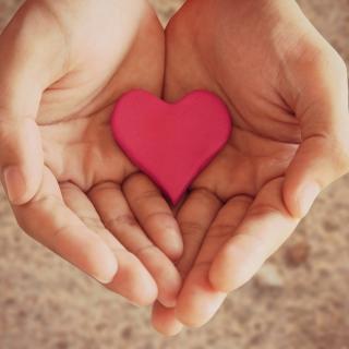 Pink Heart In Hands - Obrázkek zdarma pro iPad