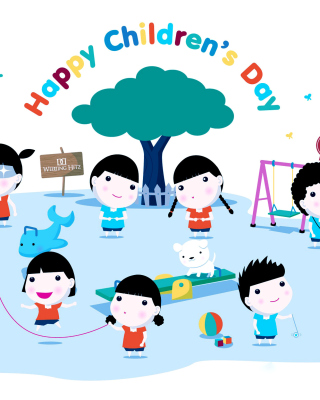 Happy Childrens Day on Playground - Obrázkek zdarma pro Nokia 206 Asha