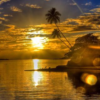 Sunset in Angola - Obrázkek zdarma pro iPad mini 2