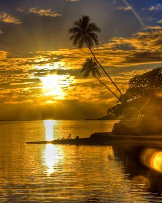 Sunset in Angola - Obrázkek zdarma pro Nokia 300 Asha