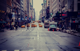 Free New York City Usa Street Taxi Picture for Android, iPhone and iPad