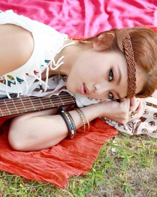 Girl with Guitar - Obrázkek zdarma pro 640x1136