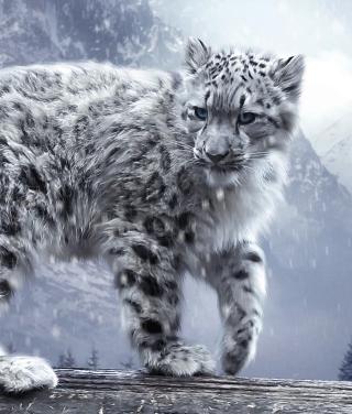 White Leopard - Obrázkek zdarma pro 750x1334