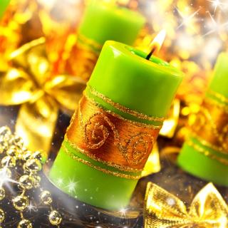 Christmas Candles & Accessories - Obrázkek zdarma pro iPad
