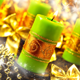 Christmas Candles & Accessories - Obrázkek zdarma pro iPad Air