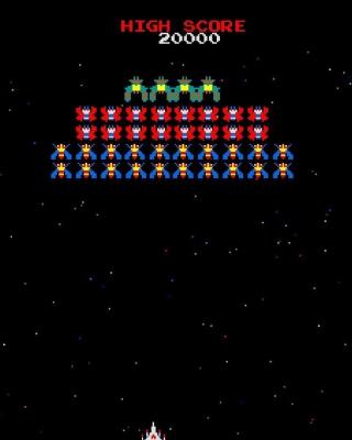 Galaxian Galaga Nintendo Arcade Game - Obrázkek zdarma pro Nokia Asha 501