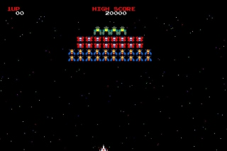 Galaxian Galaga Nintendo Arcade Game Wallpaper for Android, iPhone and iPad
