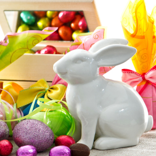 Porcelain Easter hares - Obrázkek zdarma pro 128x128