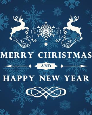 Reindeer wish Merry Christmas and Happy New Year - Obrázkek zdarma pro Nokia X7