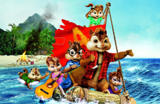 Alvin And The Chipmunks 3 2011 Background for Android, iPhone and iPad