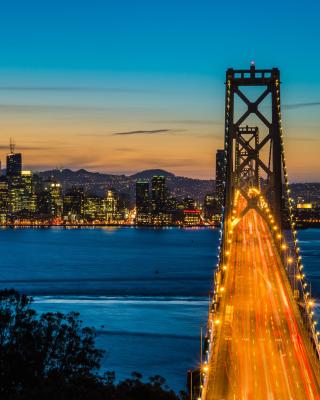 San Francisco, Oakland Bay Bridge - Obrázkek zdarma pro 352x416