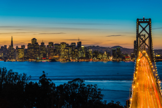 San Francisco, Oakland Bay Bridge - Obrázkek zdarma pro 320x240