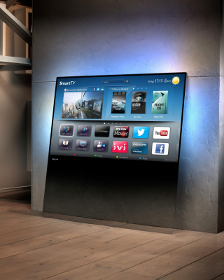 Smart TV with Internet - Obrázkek zdarma pro Nokia C6